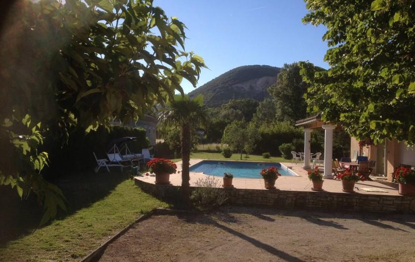 Location de vacances - Villa à Cruas - Piscine coté propriétaire accès partagé ; ouverture  10h à 12h & 14h à 18h