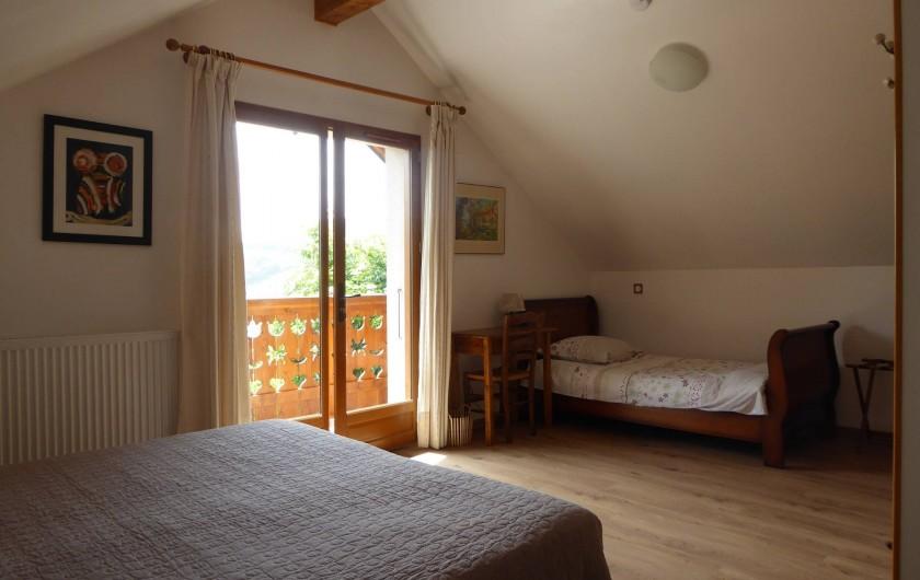 Location de vacances - Chambre d'hôtes à Oris-en-Rattier - chambre : Vercors avec balcon