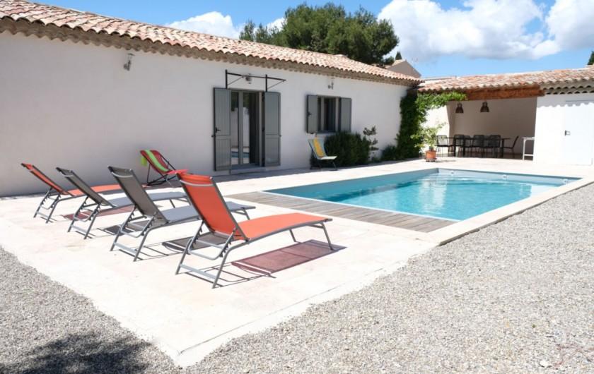 Location de vacances - Villa à Aureille - Superbe location familiale avec piscine privée située à Aureille