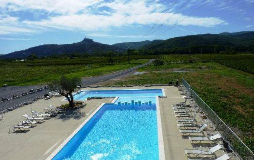 Location de vacances - Chalet à Saint-Alban-Auriolles -  Pisicne, location chalet Sud Ardèche Rev'o Thijol