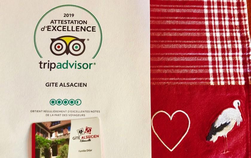Location de vacances - Gîte à Ribeauville - Prix d'Excellence depuis 7 ans