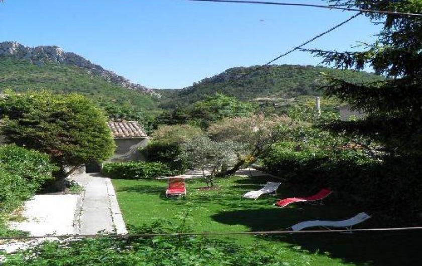 Location de vacances - Gîte à Buis-les-Baronnies - vue du balcon