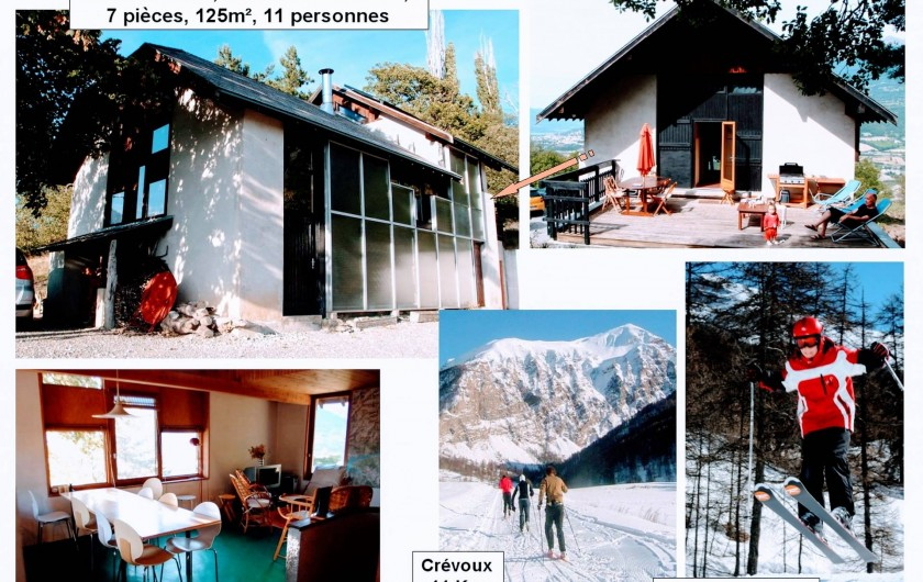 Location de vacances - Villa à Embrun - En hiver, nous vous offrons un grand espace de repos à 10 ou 25mn du ski