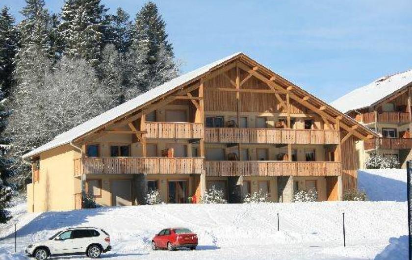 Location de vacances - Appartement à Gérardmer - Résidence en hiver - appartement au 1er étage