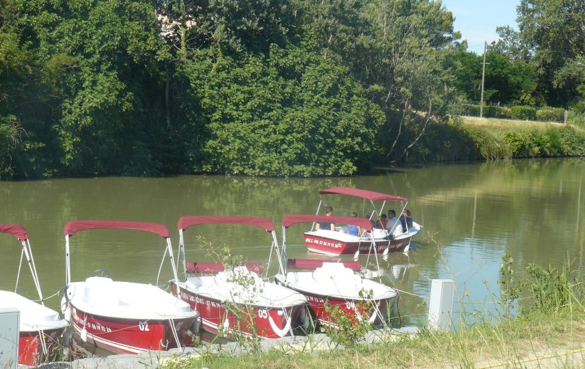 Location de vacances - Chambre d'hôtes à Villeneuve-lès-Béziers - Possibilité de louer de petits bateaux, des vélos