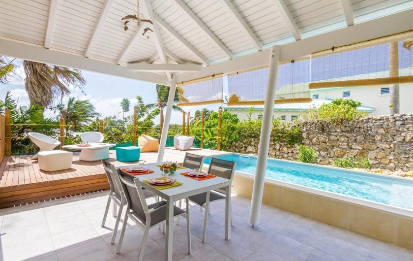 Location de vacances - Villa à Sainte-Anne - Iguane House Villas & Micro Spa Villa Passion  terrasses piscine