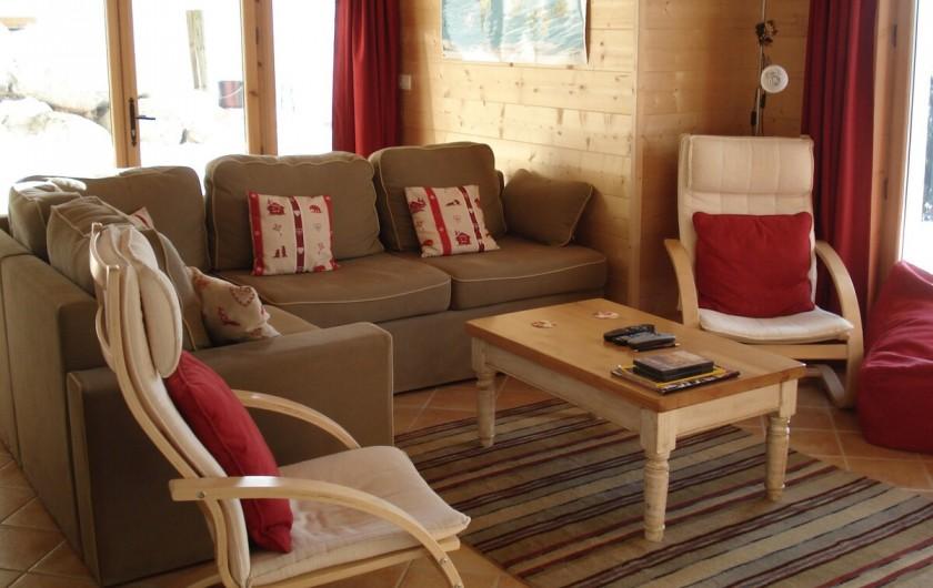 Location de vacances - Chalet à Verchaix - TV Room