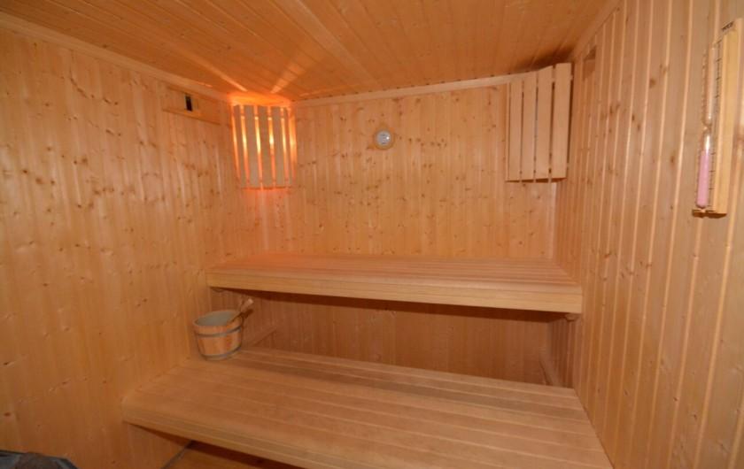 Location de vacances - Chalet à L'Alpe d'Huez - Le sauna