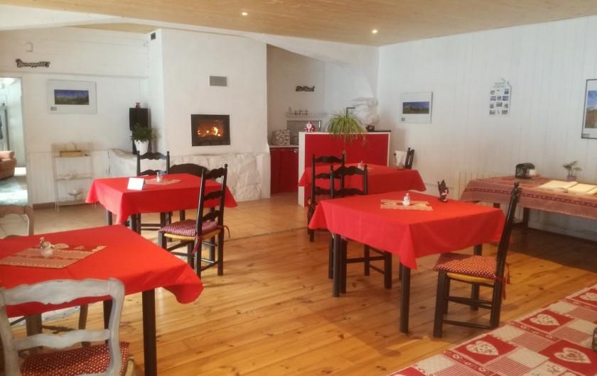 Location de vacances - Chambre d'hôtes à Lus-la-Croix-Haute - salle de restaurant