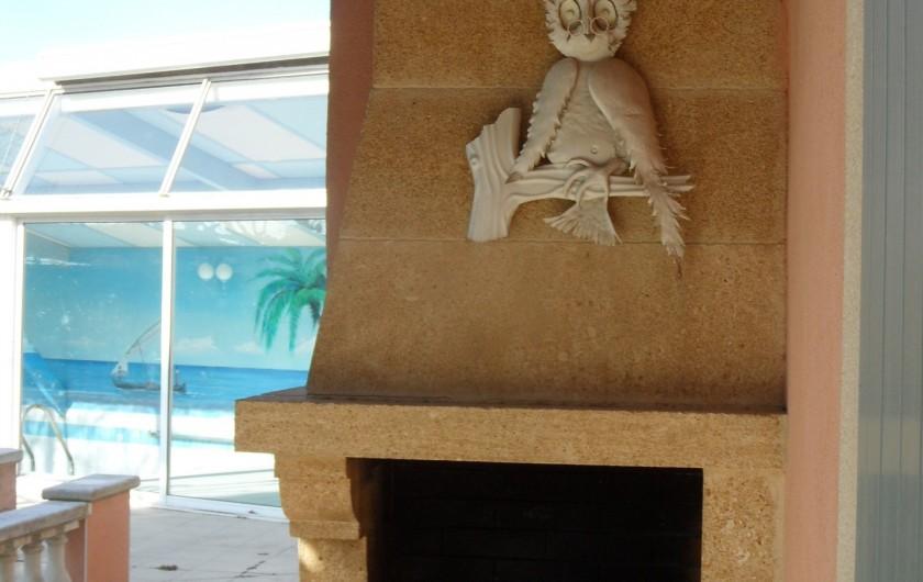 Location de vacances - Villa à Orange - barbecue important dans le Sud