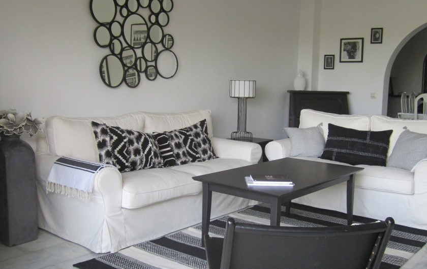 Location de vacances - Villa à Estepona - SALON, CANAPES FAUTEUILS,