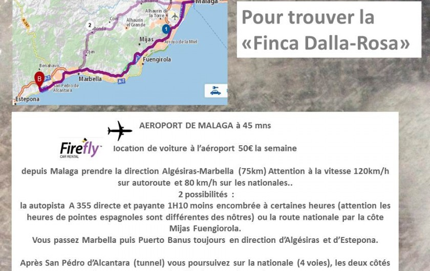 Location de vacances - Villa à Estepona - POUR TROUVER LA FINCA
