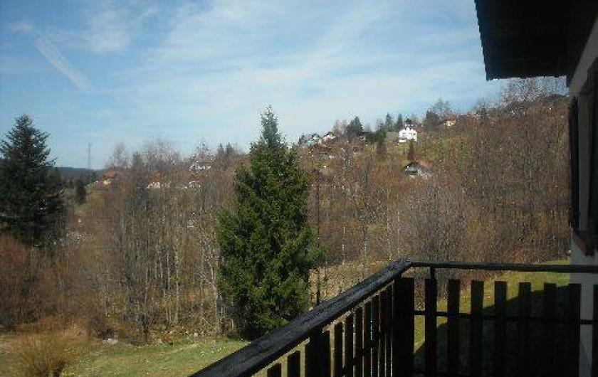 Location de vacances - Chalet à Gérardmer - vue depuis le chalet
