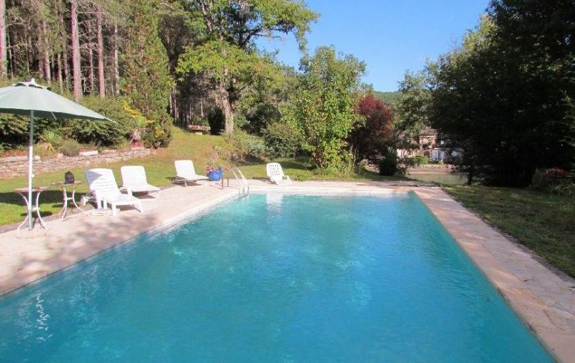 Location de vacances - Gîte à La Rouquette - Grande piscine et farniente.