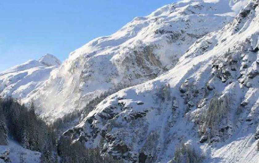 Location de vacances - Chalet à Sainte-Foy-Tarentaise - Vue d'hiver