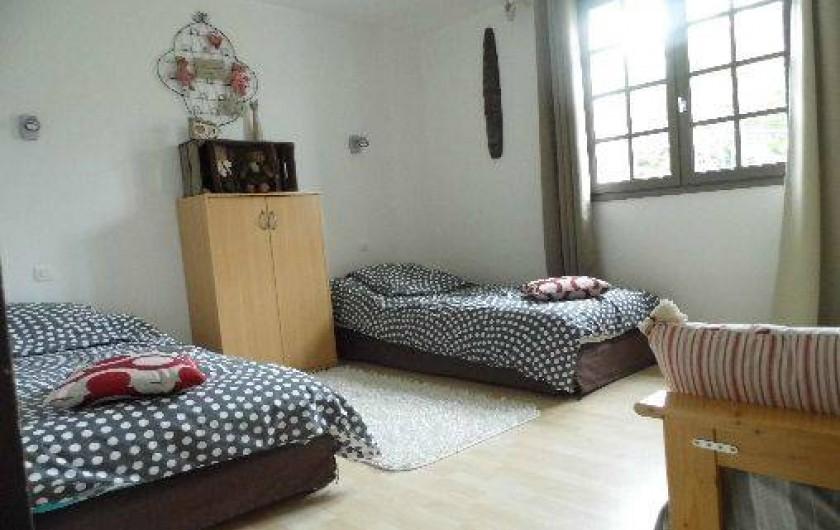 Location de vacances - Maison - Villa à Pluduno - Chambre 3 comprenant 2 lits jumeaux
