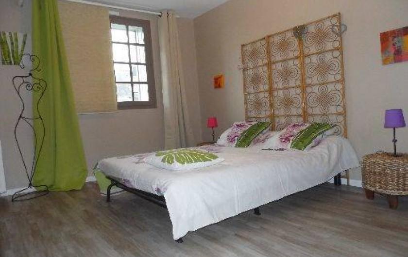 Location de vacances - Maison - Villa à Pluduno - chambre 1 comprenant lit de 2 personnes