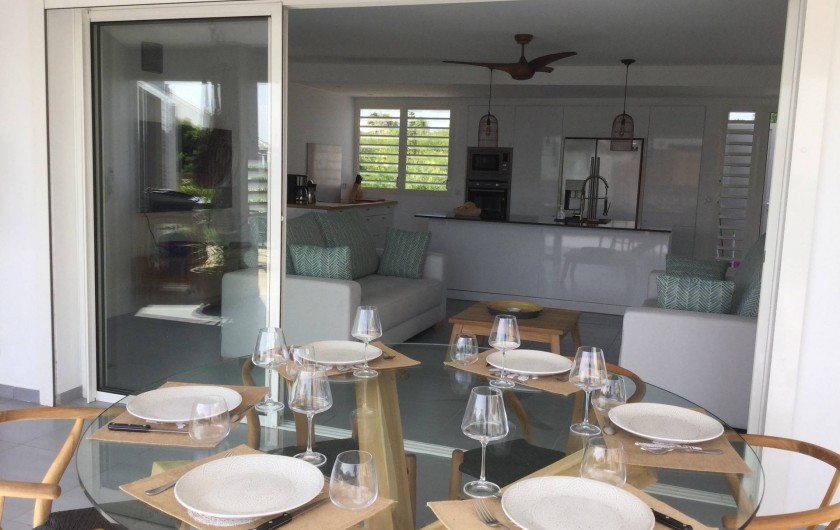 Location de vacances - Villa à Sainte-Anne - vue de la terrasse