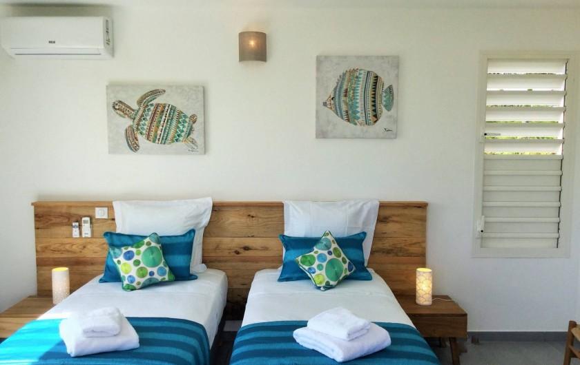 Location de vacances - Villa à Sainte-Anne - Suite 1 possibilité de faire un lit 180 x 200