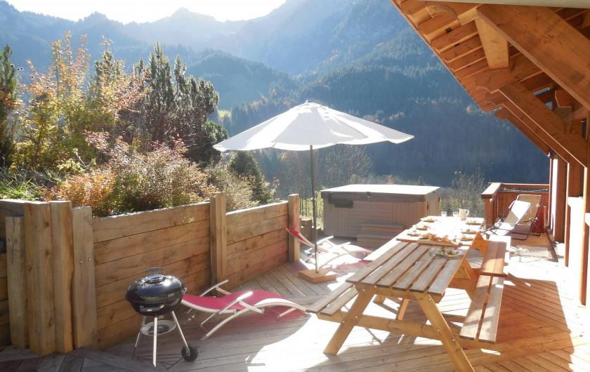 Location de vacances - Chalet à La Chapelle-d'Abondance - terrasse