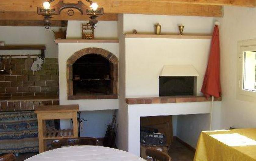 Location de vacances - Villa à La Cadière-d'Azur - barbecue :bois ou charbon .four à pizza .
