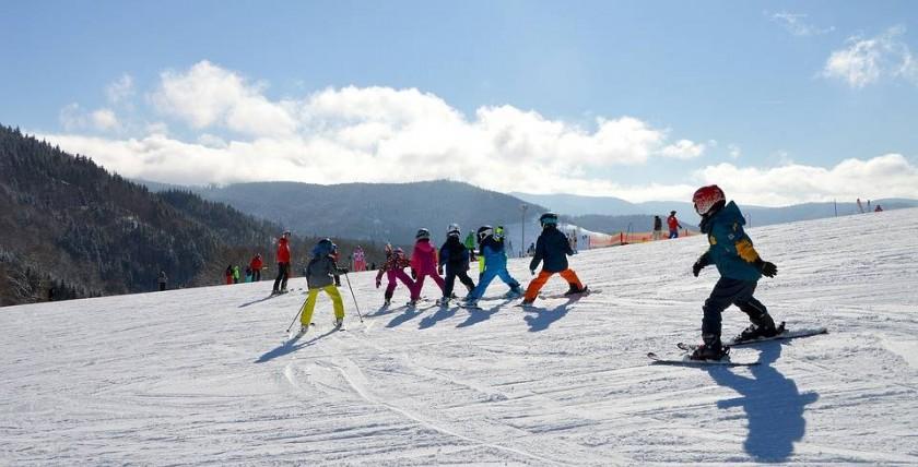 Sortie ski - champ du feu dans le massif Vosges