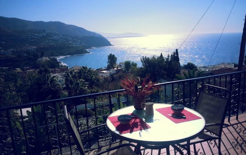 Location de vacances - Villa à Almuñécar - vue de la terrasse
