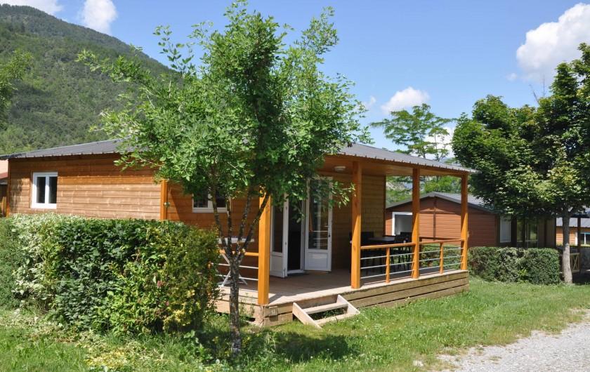 Location de vacances - Chalet à La Bréole - Les chalets vue extérieure