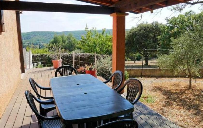 Location de vacances - Villa à Les Granges-Gontardes - terrasse