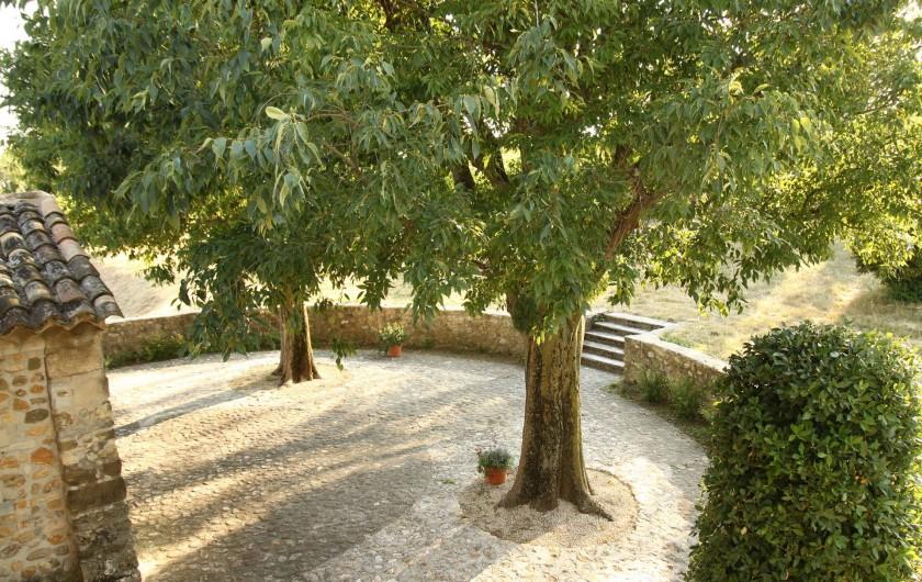 Location de vacances - Mas à Valréas - La terrasse derrière de la maison