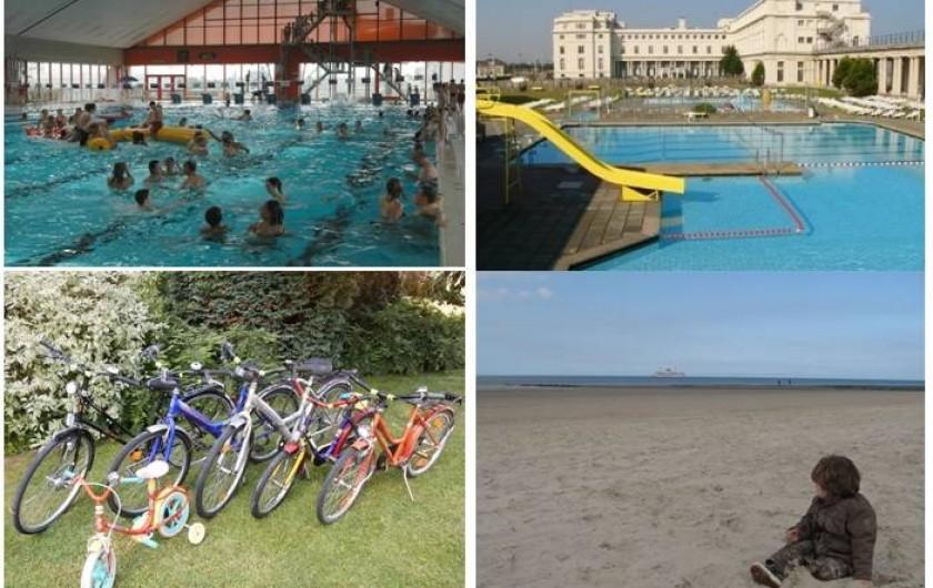 Location de vacances - Appartement à Ostende - Piscine couverte & extérieur à 10 min. / Vélos / plage au sable fin d'Ostende