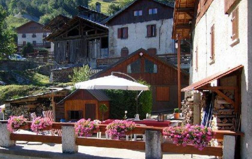 Location de vacances - Gîte à Saint-Marcel - Terrasse côté salon