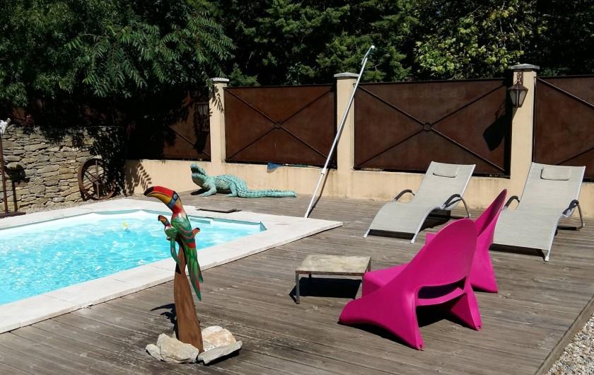 Location de vacances - Villa à Carcassonne - piscine