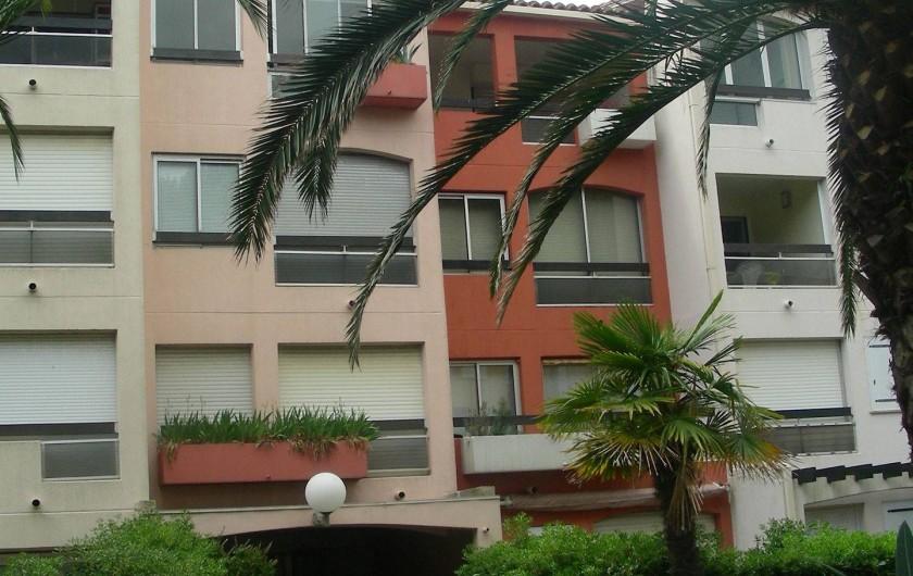 Location de vacances - Appartement à Agde - la résidence çôté jardin