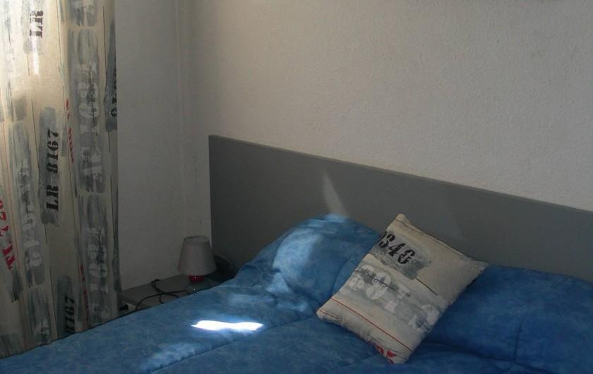 Location de vacances - Appartement à Agde - Chambre lit 2 personnes