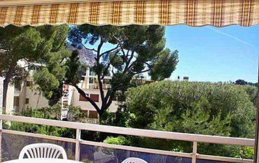 Location de vacances - Appartement à Cassis - Vue de la terrasse de la salle à manger