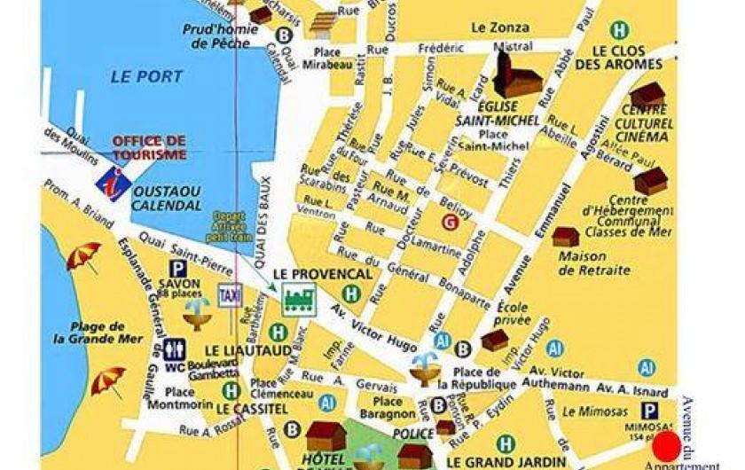 Location de vacances - Appartement à Cassis - centre de Cassis / Appartement situé au point rouge