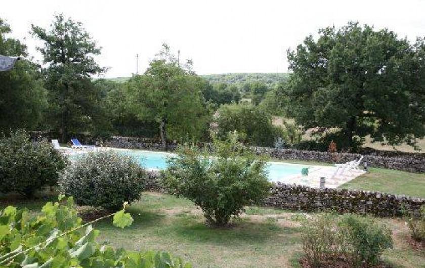 Location de vacances - Gîte à Gramat - Piscine vue du gîte Marjolaine
