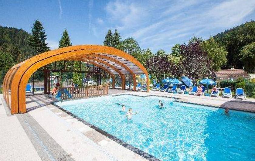 Location de vacances - Chalet à Xonrupt-Longemer - piscine + pataugeoire chauffée (ouverte 01/05 au 30/09)
