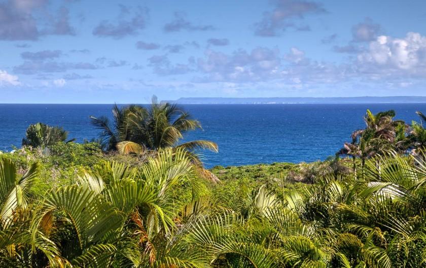 Location de vacances - Villa à Sainte-Anne - Vue mer de la terrasse
