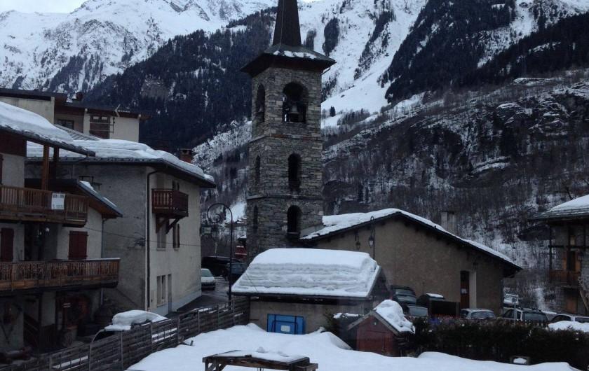 Location de vacances - Appartement à Sainte-Foy-Tarentaise - Le village de Ste-Foy en hiver