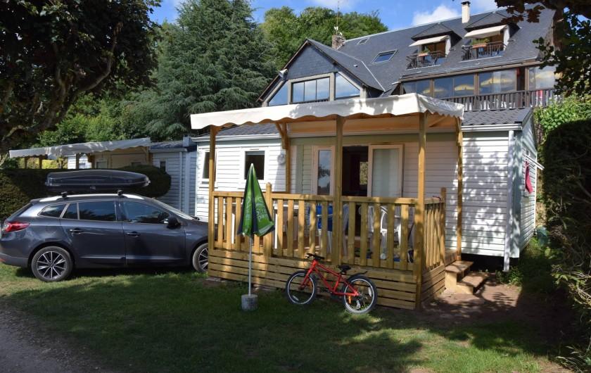 Location de vacances - Camping à Salles-Curan - chalet et mobil-home du camping beau-rivage lac de pareloup aveyron