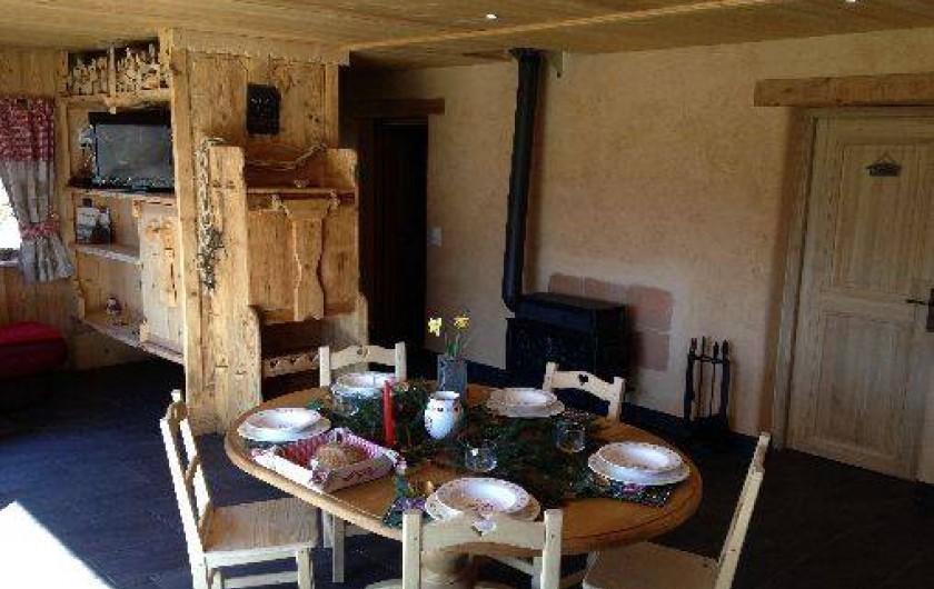Location de vacances - Chalet à Servoz - La salle de séjour