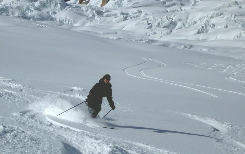 Location de vacances - Chalet à Servoz - Le lac vert et le Mt Blanc