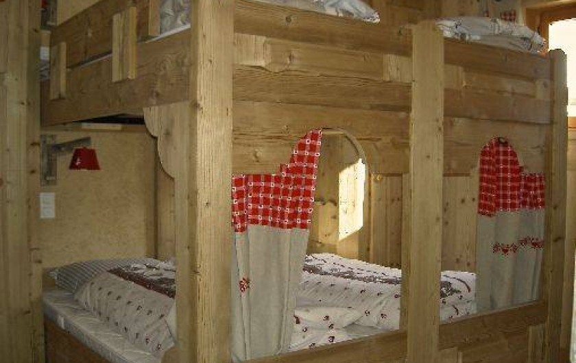 Location de vacances - Chalet à Servoz - La chambre 4 lits soit 2x2 matelas de 80x190