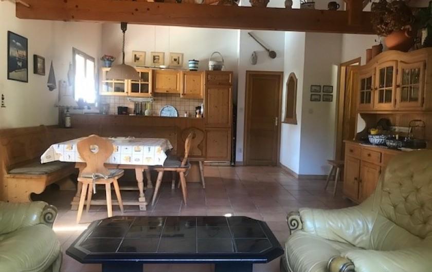 Location de vacances - Villa à Biscarrosse Plage - Séjour, coin repas, Cuisine américaine