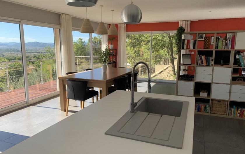 Location de vacances - Villa à Barjac - Séjour