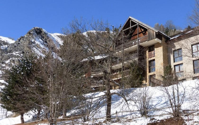 Location de vacances - Studio à La Grave - La résidence en hiver