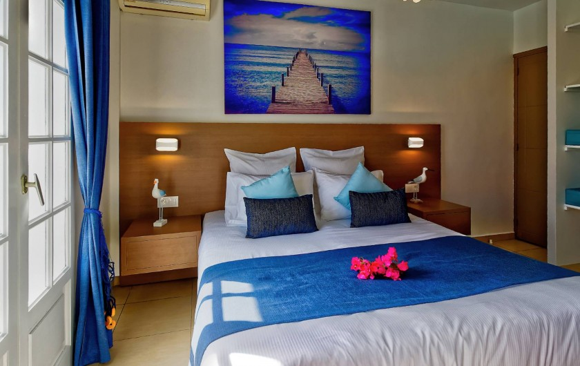 Location de vacances - Villa à Sainte-Anne - chambre bleue