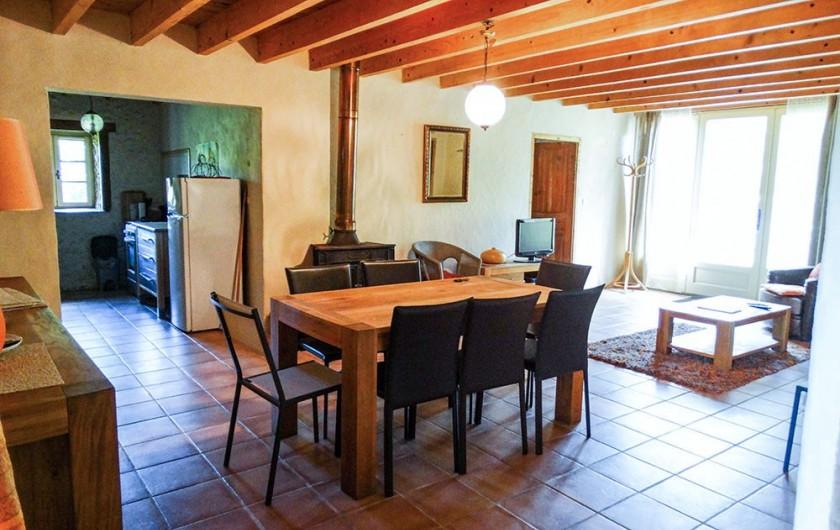 Location de vacances - Gîte à Bourrou - Salon gite theleme